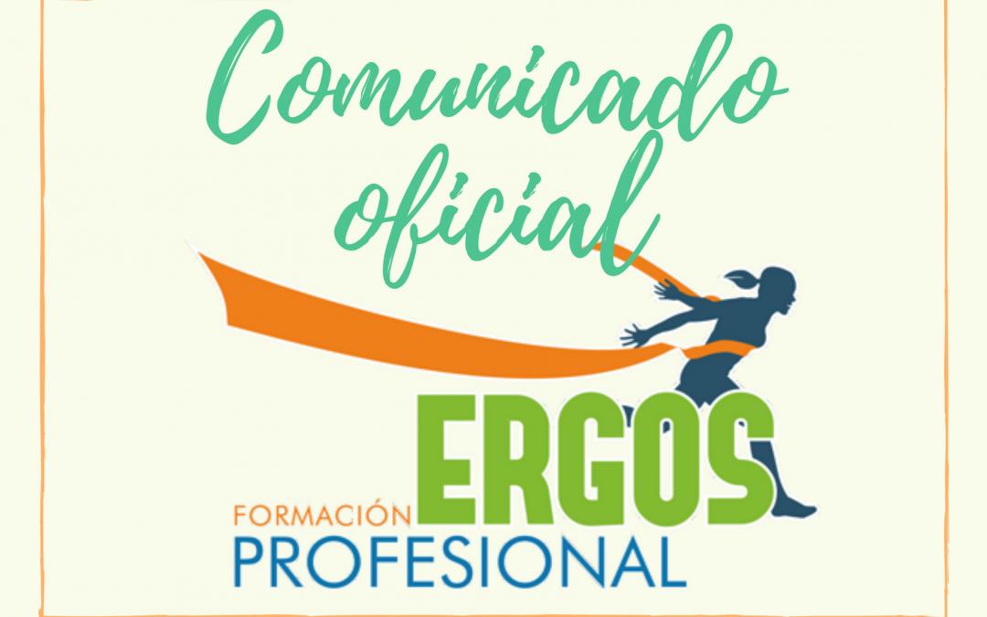Comunicado Oficial – ERGOS FP – Covid19